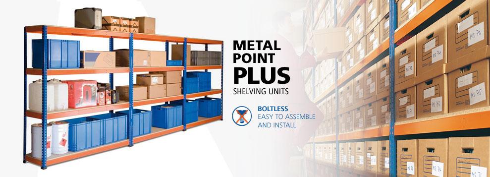 image of metal point plus shelving unit