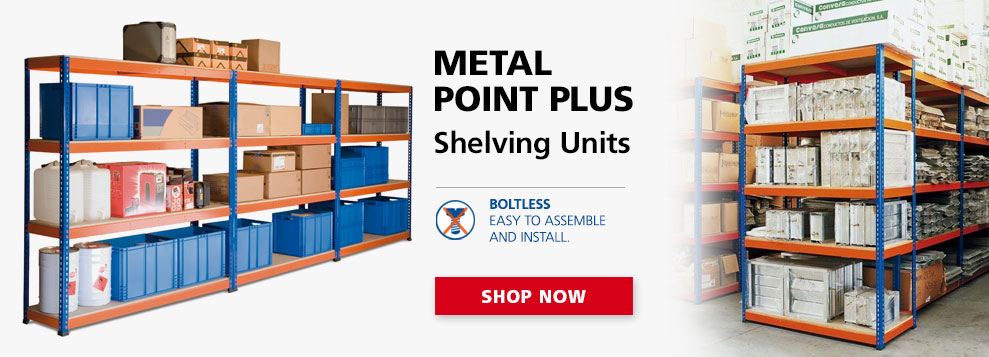 image of metal point plus shelving unit