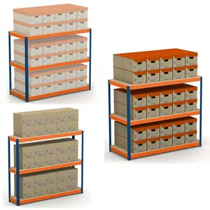 METAL POINT PLUS Record Storage Shelving Units