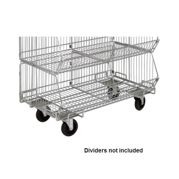 Chrome Wire Shelf Dolly Base - Shelving Direct