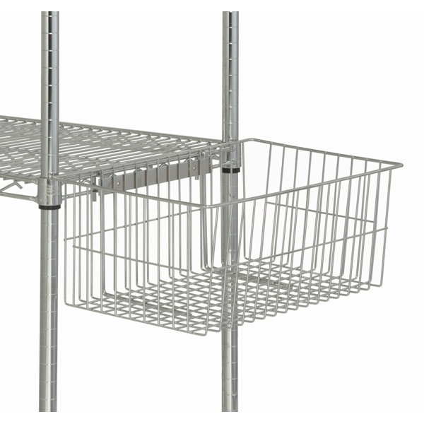 Chrome Wire Shelf Utility Basket - Shelving Direct