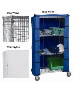 Chrome Wire Shelving Cart Covers