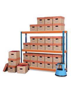 METAL POINT®PLUS Record Storage Economy Kits with PRO2 boxes