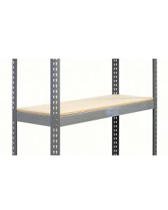 METAL POINT®PLUS extra shelf with particle board decking color gray
