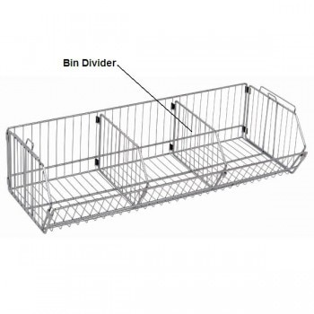 Chrome Wire Shelf Bin Divider