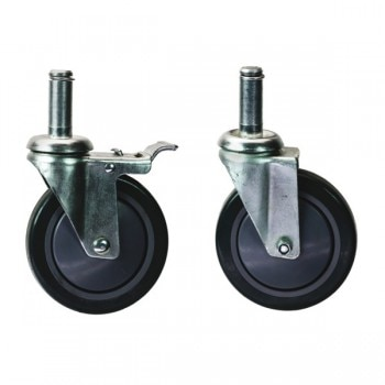 Chrome Wire Shelf Casters