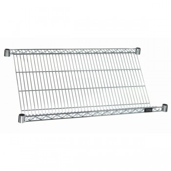 Chrome Wire Slant Shelves