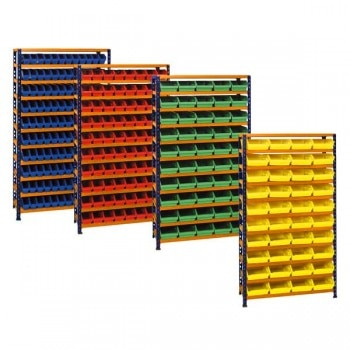 METAL POINT ® 2 Shelf Plastic Bin Systems