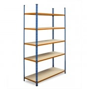 METAL POINT®2 Steel Shelving Unit with particle board shelves