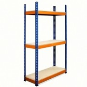 METAL POINT®PLUS Steel Shelving Unit with particle board Shelves