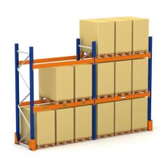 "Heavy Duty Pallet Racking - 2 Level - 144"" H x 108"" W x 42"" D - 5,350 lbs"