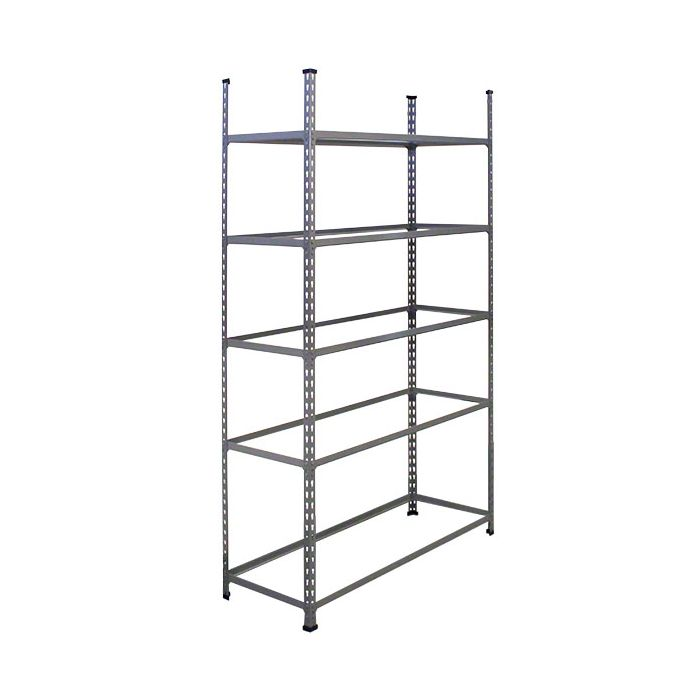 METAL POINT®2 Steel Shelving Unit no decking color gray