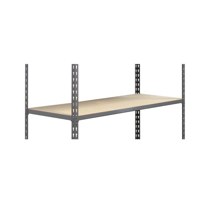 METAL POINT®2 extra Shelves with particle board decking color gray