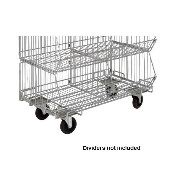 Chrome Wire Shelving Dolly Base