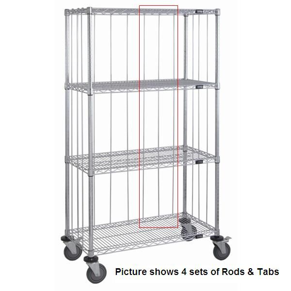 Chrome Wire Shelf Rods And Tabs