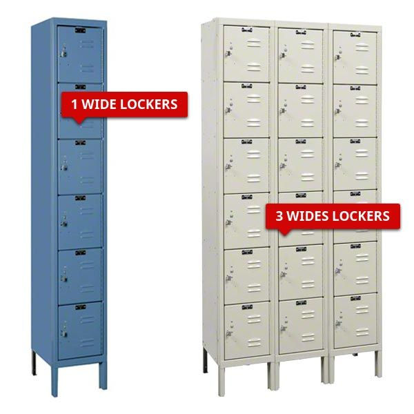 Six Tier Metal Lockers